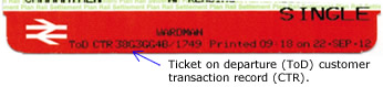 Ticket on Departure