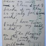 Doris Rose Grady postcard back