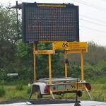 Solar matrix sign, Farnham