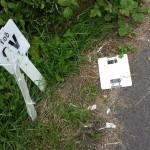 Shredded signs, Weybourne