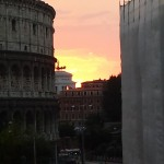 Sunset over the Colosseum, Rome