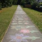 Chalk pavement, Farnham