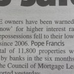 Quote from the Pope, Aldershot