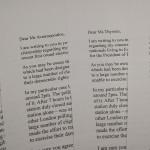 Letters to European Commissioners, Farnham