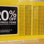 20% off (in case you can't work it out), Farnham