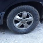 Car tyre, Romania