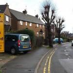 Road closed, Farnham