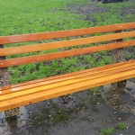 Repaired bench, Manor Park, Aldershot