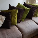 Cussionback sofa, Farnham