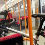 Bike on train, Frimley
