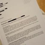 Solicitor letter, Farnham