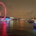 Nighttime Thames, London