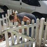 Painting the fence, Alton