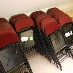 Folding chairs, Aldershot