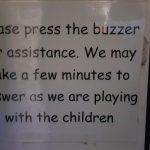 Please press the buzzer, Farnham